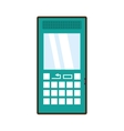 cartoon green cellphone mobile smart communication vector image