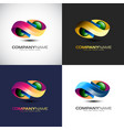abstract 3d infinity logo template for your vector image vector image