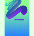 abstract minimal calendar design for 2019december vector image