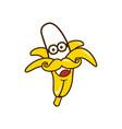 banana smile vector image