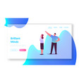 brainstorm or working process landing page vector image vector image