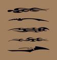 car motorcycle racing vehicle graphics tribal vector image vector image