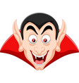 cartoon vampire head isolated on white background vector image