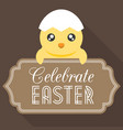celebrate easter typographical background vector image vector image