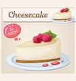 cheesecake with raspberry icon cartoon vector image vector image