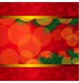Christmas background with candles and fir tree vector image vector image