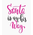 Christmas Santa lettering typography vector image