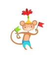 Circus Trained Monkey Animal Artist Performing A vector image vector image
