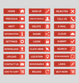collection of flat web buttons vector image
