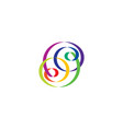 colorful knot logo abstract design element vector image