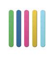 colorful realistic ice cream stick set vector image