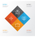 corporate icons set collection of email business vector image vector image
