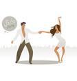 couple dancing latin music may17-01 vector image vector image
