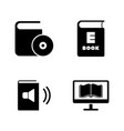 ebook education simple related icons vector image