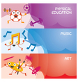 Education Characters Banner Physical Music Art vector image vector image
