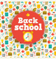 education flat background vector image vector image