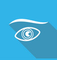 eye icon with a long shadow vector image vector image