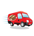 fast shipping courier van vector image