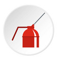 fire extinguisher icon circle vector image vector image
