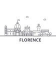 florence architecture line skyline vector image vector image