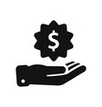 gain dollar icon vector image