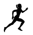 girl athlete runner run vector image vector image
