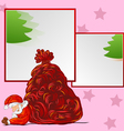 hand drawn Santa Sleeping on frame vector image vector image