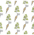 healthy carrot and parsley sprig seamless pattern vector image vector image