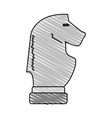 horse chess piece design vector image vector image