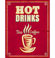hot drinks red vector image