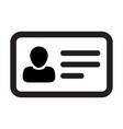 id card icon male user person profile avatar vector image vector image