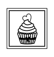Isolated muffin design vector image vector image