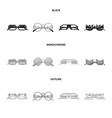 isolated object of glasses and sunglasses sign vector image