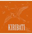 Kiribati Retro styled image vector image vector image