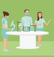 lab research activity team work chemistry vector image vector image