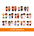 latin americans in national clothes vector image vector image