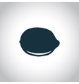 Lemon black flat icon vector image