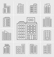 line icons building set vector image vector image