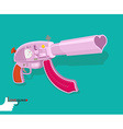 Love gun Arms Cupids vector image