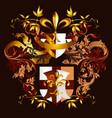 menu design with heraldic elements vector image vector image
