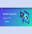 mobile payments 3d template vector image