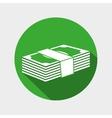 money bills wad icon design vector image