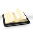 open book in tablet pc vector image vector image