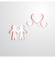 Paper Cut People and Hearts vector image