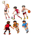 People doing different sports vector image vector image