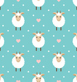 Polka dots seamless pattern with cute goat vector image vector image