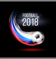 soccer ball with flame trail russian flag vector image