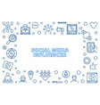 social media influencer outline frame vector image