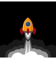 Space Rocket on Black Sky Background vector image