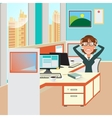 Stressed Businesswoman in Office Work Place vector image vector image